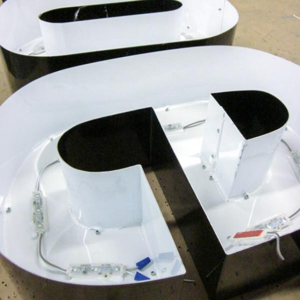 Channel letters can range from different colors to various sizes.